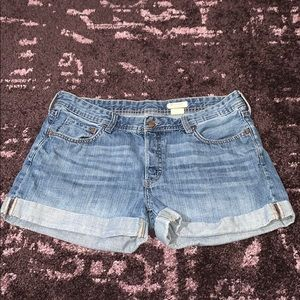 H&M Boyfriend Fit Denim Shorts